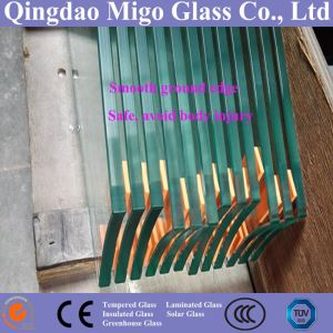 Tempered Glass, Flat, Round, Bevel Polished Edge with Safety Corners