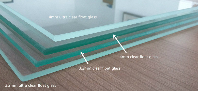 4mm Tempered Extra Clear Float Glass with Low Iron Content